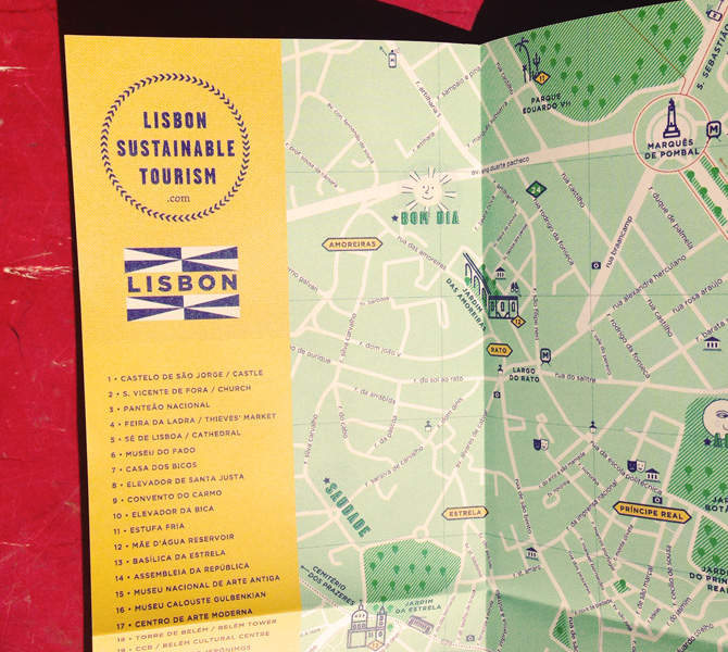cover of lisbon sustainable map and guide